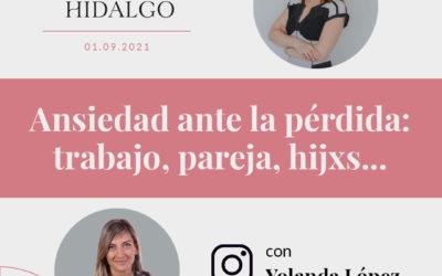 Yolanda Lopez Concha Hidalgo Ansiedad Perdida Pareja Trabajo Hijos Duelo